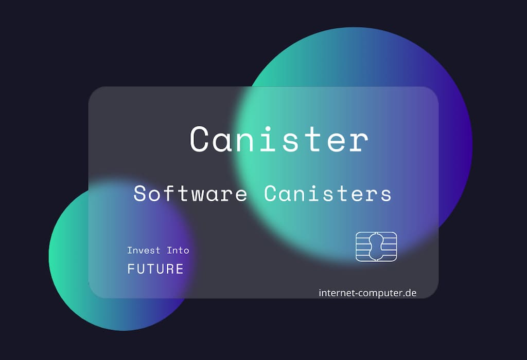 Software Canisters - Internet Computer